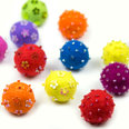 Deco magnets made of felt, with glass pearls, set of 3