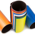 Coloured magnetic tape, for labelling and cutting, 150mm wide