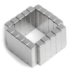 Parall�l�pip�dique magn�tique 15x4x4mm, n�odyme, 45M, nickel�